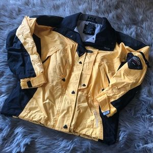 Helly Hansen waterproof winter jacket yellow